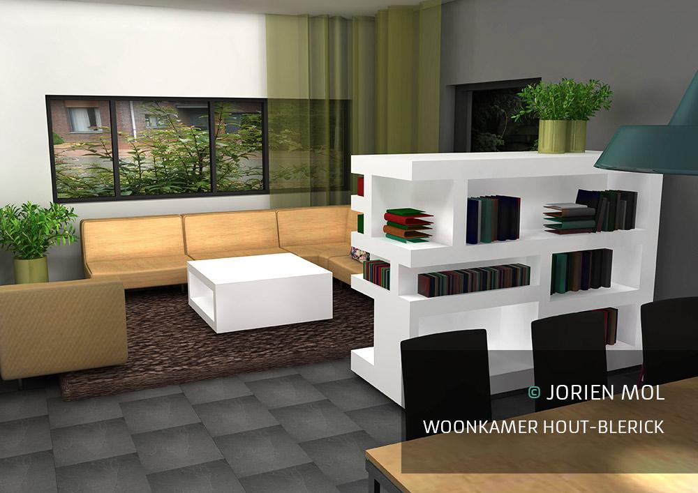 Hout In Woonkamer : Woonkamer grijs groen hout opbergsystemen rekken vakkenkasten ikea