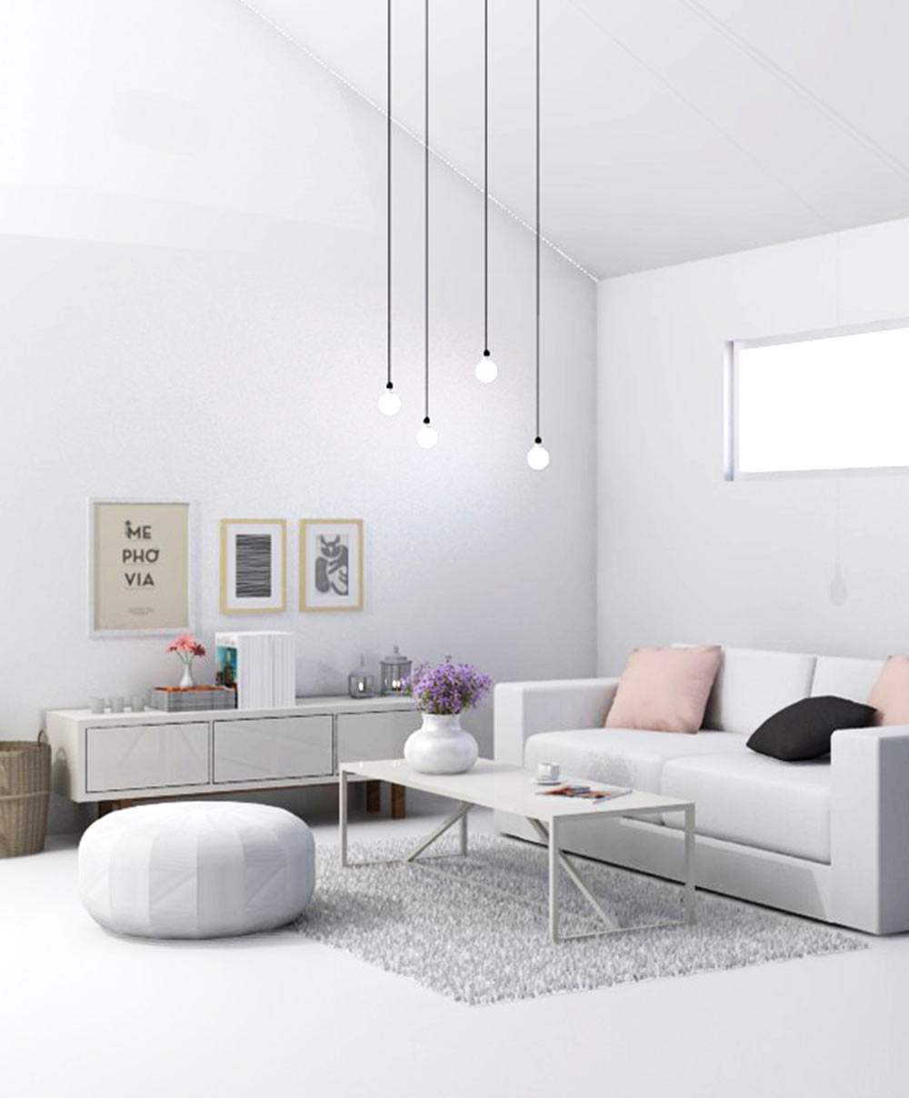 Wit interieur: Scandinavisch interieurontwerp
